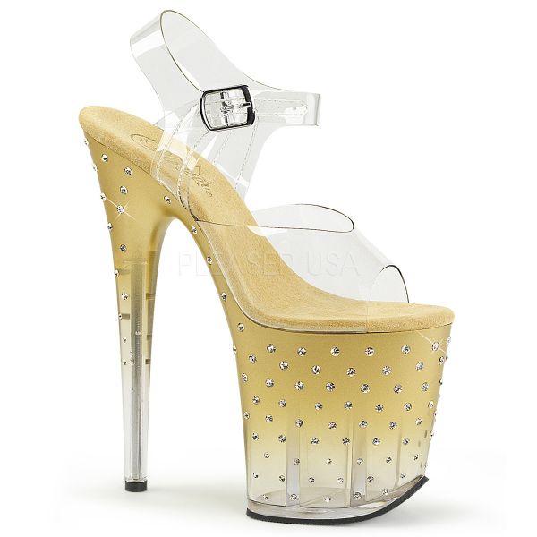Sandalette mit goldenem Farbverlauf und zahlreichen Strass-Steinen STARDUST-808T
